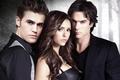 Picture Ian Somerhalder, the series, Damon, Stefan, Elena, Nina Dobrev, Nina Dobrev, The Vampire Diaries, Elena ...