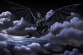 Picture flight, joy, night, dragon, guy, art, how to train your dragon, toothless, How to Train ...