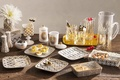 Picture olives, table, food, toast, appetizer, decor