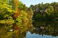 Picture river, autumn, autumn, trees, Germany, Germany, reflection, river
