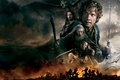 Picture fire, dragon, smoke, sword, fantasy, elves, dwarves, battle, Evangeline Lilly, the hobbit, orcs, Orlando Bloom, ...
