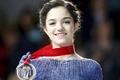 Picture skater, Evgeniya Medvedeva, world champion, the first place, gold, smile, Evgeny Medvedev, brunette, Eugene, medal, ...