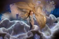 Picture Fleeting Moment, art, mermaid, fantasy, coral, Coby Bruin