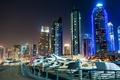 Picture night, the city, photo, Skyscrapers, Dubai, United Arab Emirates
