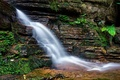 Picture waterfall, rock, stream