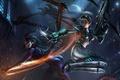 Picture Nova vs. Kerrigan, Kerrigan, StarCraft 2 Heart of the swarm, Nova