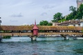 Picture Switzerland, bridge, Lucerne, turret, gallery, river