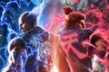 Picture tiger, flame, lightning, back, kimono, fighters, Akuma, Namco Bandai, Tekken 7: Fated Retribution, Heihachi