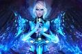 Picture look, girl, magic, wings, sword, beauty, art, the handle, Guild Wars, GW2, Dragonhunter