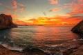 Picture dawn, Bay, Crimea, our