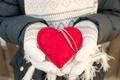 Picture heart, mittens, heart, winter, love, romantic, sweet, love, hands, winter