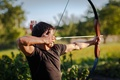 Picture pointing, arrow, archery, bow, man