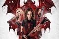 Picture music, cinema, demon, blood, guitar, rocker, long hair, woman, wings, man, movie, hair, death, blonde, ...