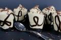 Picture chocolate, glasses, cream, dessert, sweet