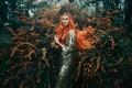 Picture Bella Kotak, girl, redhead, decoration, flowering, The Tempest