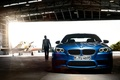 Picture car, machine, light, people, hangar, light, the plane, 1920x1200, man, plane, hangar, bmw m5 2011
