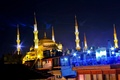 Picture Sultanahmet, Sultanahmed, mosque, Mosque, Istanbul, Istanbul, Turkey, night, night