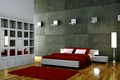 Picture room, pillow, bed, twilight, Mat, lamp, blanket