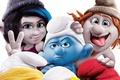 Picture family, Paris, The Smurfs 2, The Smurfs 2, gnomes, Paris, dwarves