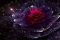Picture flower, drops, rain, silent rain