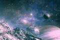 Picture planet, QAuZ, art, landscape, satellite, space