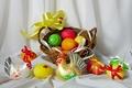 Picture eggs, spring, Easter, still life, basket