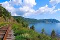 Picture Baikal, trans siberian railway, scenery railroad, BAM