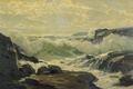 Picture foam, reefs, rocks, Frederick Judd Waugh, wave, sea