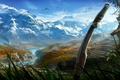 Picture birds, Far Cry 4, sword, mountains, nature
