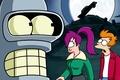 Picture Futurama, Bender Bending Rodriguez, Philip J. Fry, Turanga Leela, A Bender Bender Rodriguez, Turanga Leela, ...