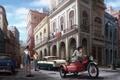 Picture the city, street, figure, art, HABANA STREET