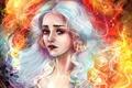 Picture Game of thrones, Emilia Clarke, Daenerys Targaryen, Hair, Art, Emilia Clarke, Game of Thrones, Blonde, ...