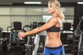 Picture fitness, blonde, workout, gym