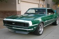 Picture Chevrolet, Camaro, Chevrolet, Camaro, Green, Chevy, Super Sport, Muscle car, '1968, Package Included Super Sport, ...