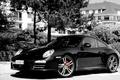 Picture Black and White image, Trees, Porsche, 911, Mediocrity, Black, Belastet