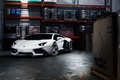 Picture ADV.1, Lamborghini, Garage, Matte, Aventador, LP700-4, White, Supercar, Front, Wheels, Tuning
