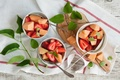 Picture berries, fruit salad, fruit, strawberry, leaves