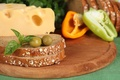 Picture cheese, bread, pepper, olives, slices, products