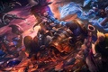 Picture art, league of legends, katarina, fan, garen