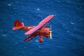 Picture Red, Sea, Biplane