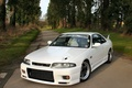 Picture tuning, Nissan, Skyline, R33, white