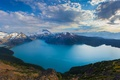 Picture snow, mountains, British Columbia, Canada, lake, Canada, the sky, clouds, crater