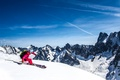 Picture winter, the sky, clouds, snow, mountains, ski, skier, extreme sports