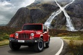 Picture jeep, 2015, mountains, Wrangler X, Jeep, waterfall, road, car, machine