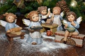 Picture kitchen, angels, figures, new year, needles, cooking, the plot, Christmas, angels, bumps, cookies, toys, children