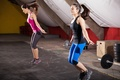 Picture fitness, buttocks, jump rope workout