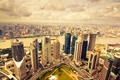 Picture clouds, city, the city, Park, photo, view, building, road, horizon, panorama, skyscrapers, megapolis, view, skyscrapers, ...