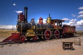Picture desert, the engine, railroad, Utah, USA, vintage