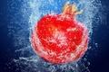 Picture water, bubbles, food, fruit, Garnet
