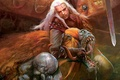 Picture striga, medallion, sword, the witcher, the Witcher